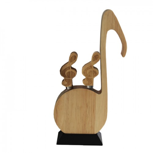 Wooden Cheese Knife Set Music Notes