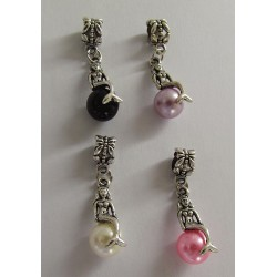 MERMAID Wine Glass Charms dangle beads