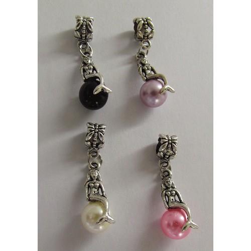 MERMAID Wine Glass Charms dangle beads