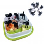 Mini CAT Fruit Forks Set (6pcs)