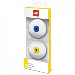 Lego Eraser Set Blue & Yellow Pack Of 2