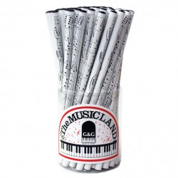 Pencil Minuet white