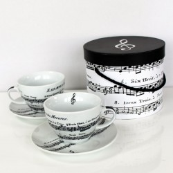 Adagio White CAPPUCCINO Cup Set Gift Boxed PPD