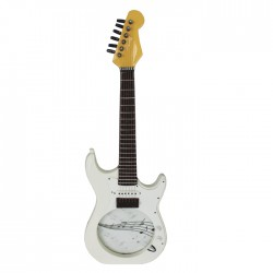 Guitar Photo Frame Electric White