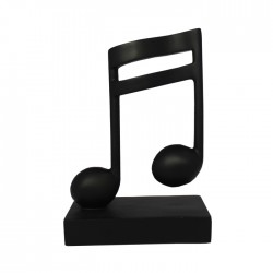 Music Note Ornament 2 Semi Quavers Black