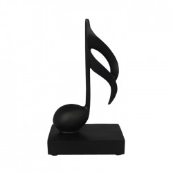 Music Note Ornament 1 Semi Quaver Black