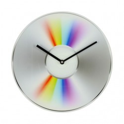 Musicology Glass Wall Clock Cd 30cm