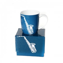 SAXOPHONE Blue Boxed Mug