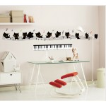 Wall removable stickers CATS Music Notes