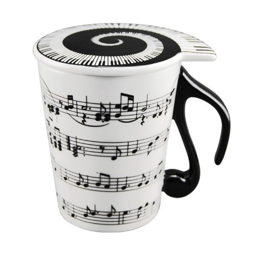 Music Staves Mug with Lid