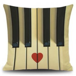 PIANO (heart) pillow