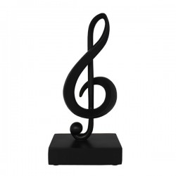 Music Note Ornament Treble Clef Black