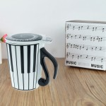 Piano Keys Mug with Lid