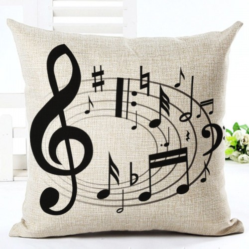 TREBLE CLEF & MUSICAL NOTES Pillow