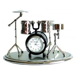DRUM Set (on A Base) Miniature Clock
