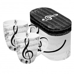 Mug Set Gift Box I Love Music PPD