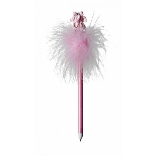 Pink Ballet Shoes Fluffy Pen