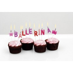 Ballerina Ballet Wording Candles