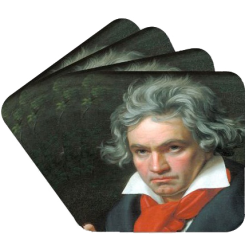 Coasters BEETHOVEN Portrait (4 pcs) Vienna World