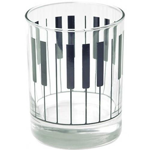 Clear glass tumbler KEYBOARD Design