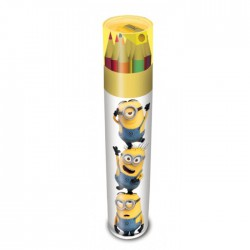 Despicable Me Colouring Pencil Tube: Stacked Minions