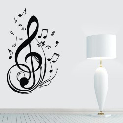 Music Notes Wall 3D Stickers