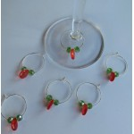 SWAROVSKI Coloured CRYSTAL Wine Glass Charms