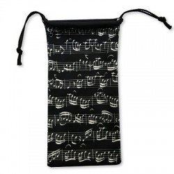 Glasses case SHEET MUSIC black Vienna World