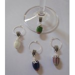 WATERMELON Style Coloured Pearls Wine Glass Charms